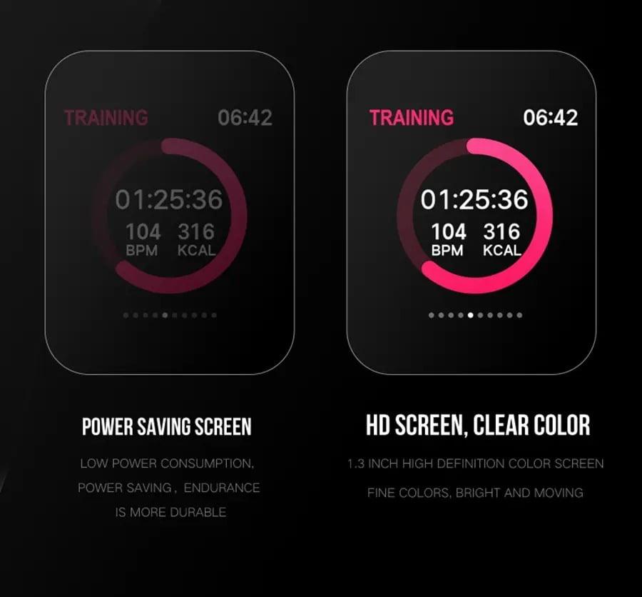 Bakeey smartwatch B57 1.3 inch Color Screen HR Blood Pressure Weather Remind Sport Smart Watch (5)