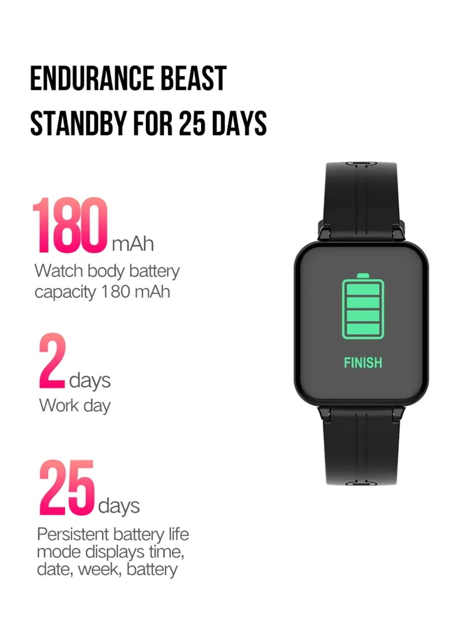 B57 1.3 inch Color Screen HR Blood Pressure Weather Remind Sport Smart Watch (6)
