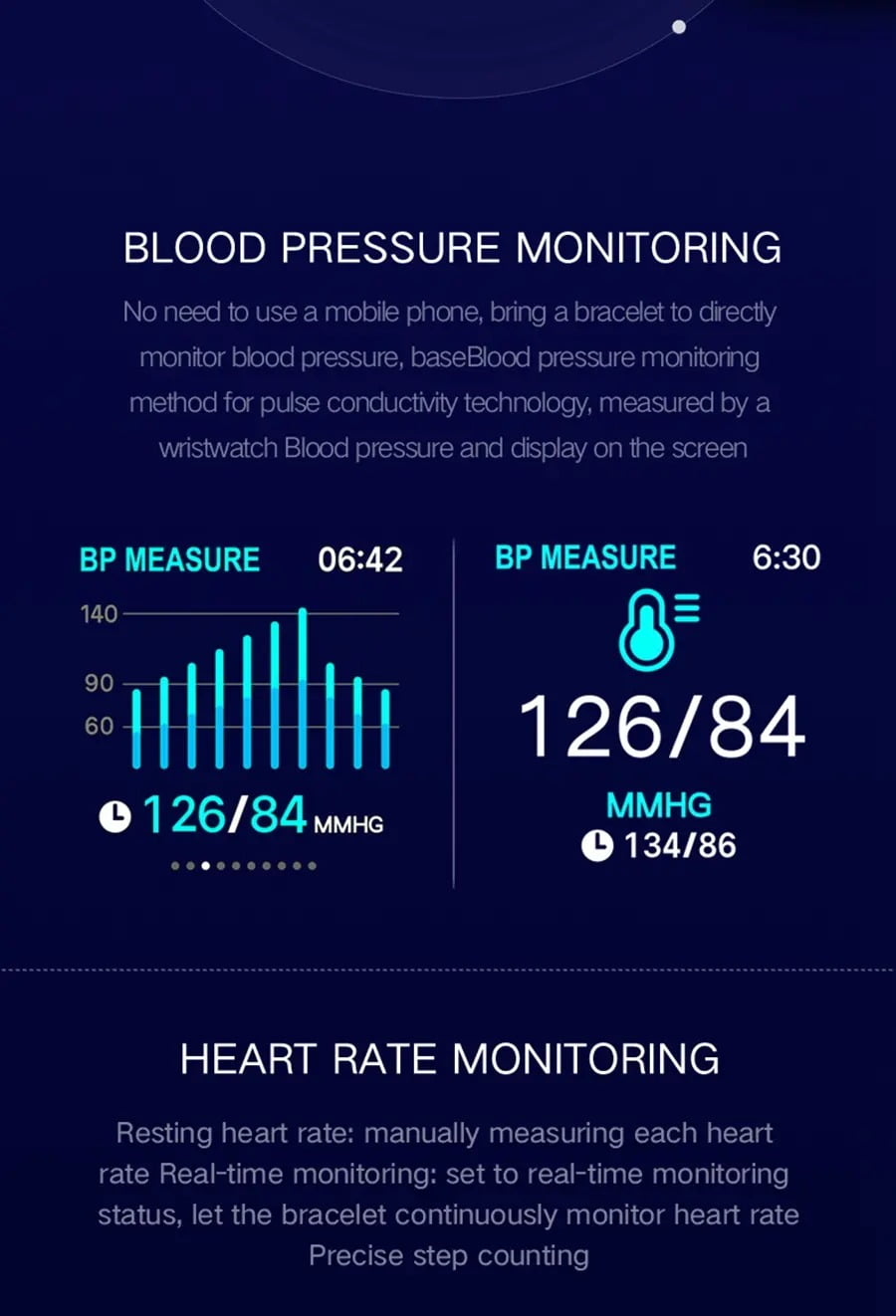 B57 1.3 inch Color Screen HR Blood Pressure Weather Remind Sport Smart Watch (8)