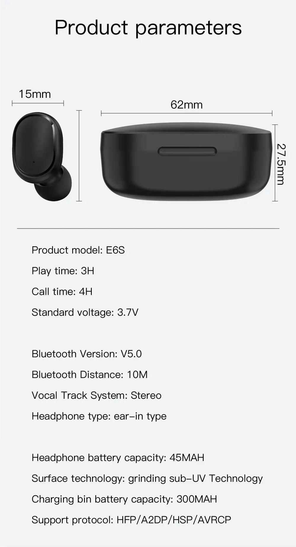 E6s tws bluetooth 5.0 earbuds digital display earphone (12)