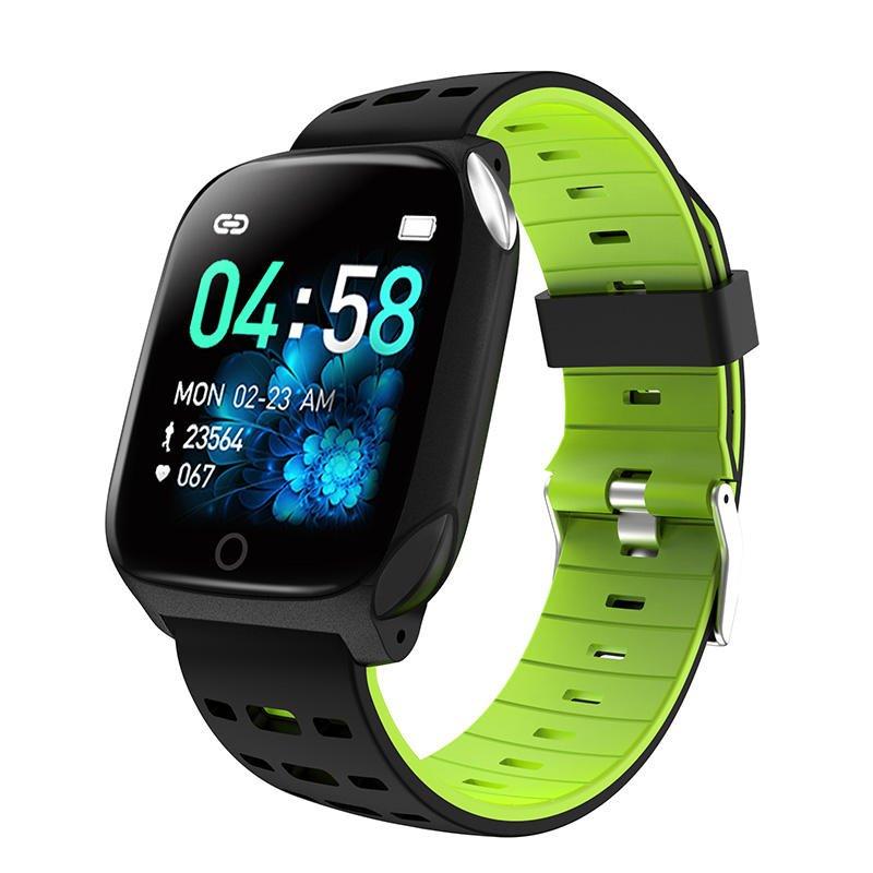 Bakeey smartwatch F16 ECG PPG Smart Watch heart rate blood pressure oxygen monitor (1)