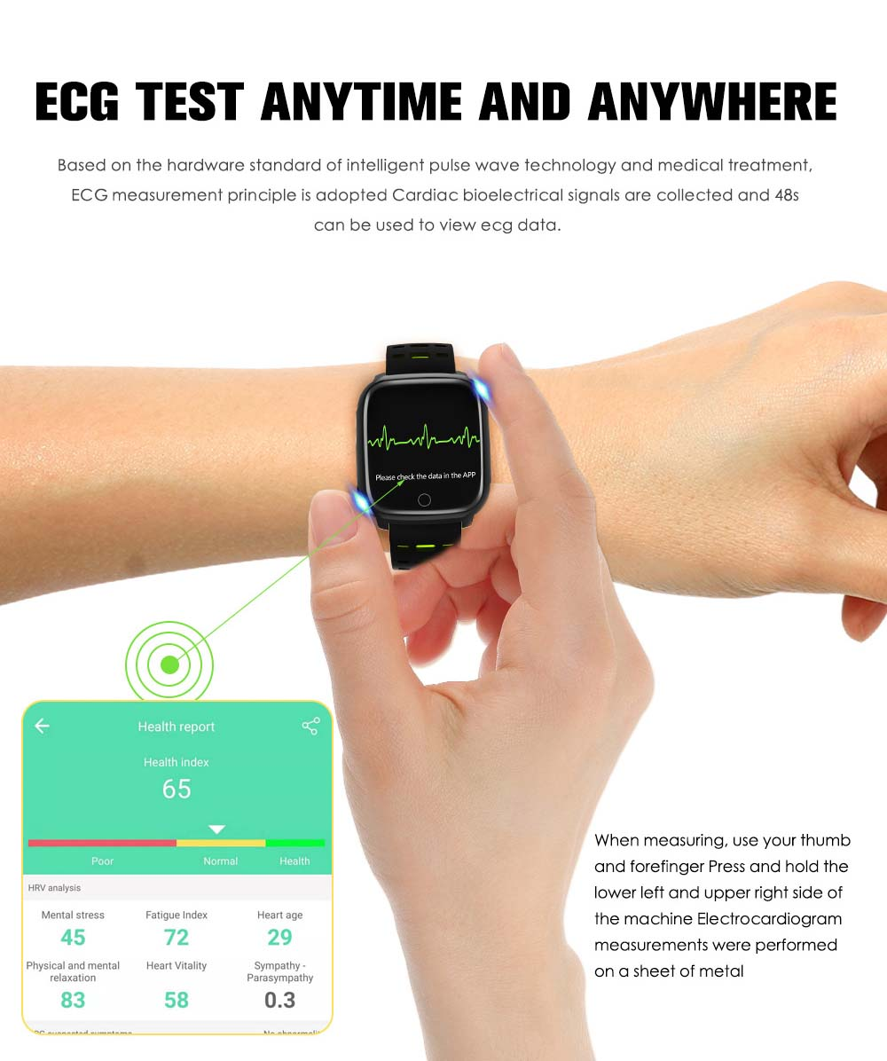 F16 ECG PPG Smart Watch heart rate blood pressure oxygen monitor (12)