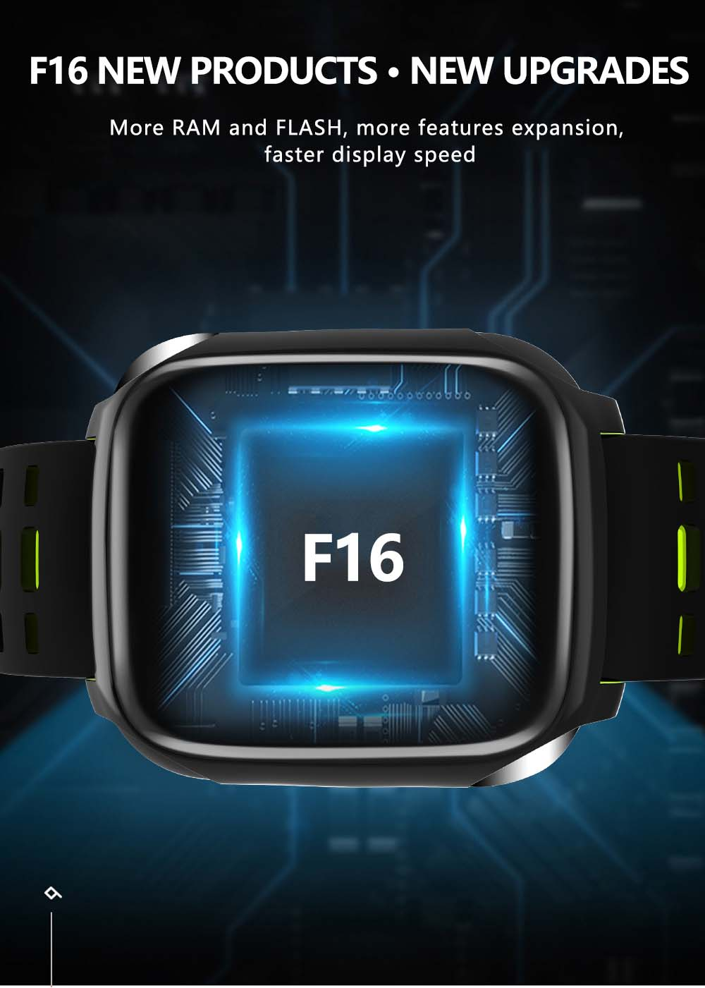 F16 ECG PPG Smart Watch heart rate blood pressure oxygen monitor (16)
