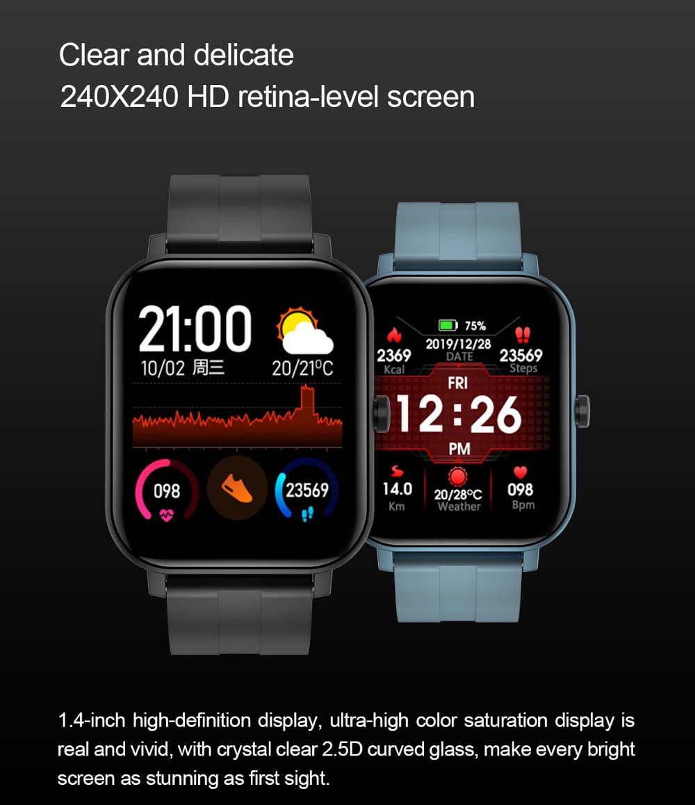 F22 Smart Watch 1.4inch wristband body temperature heart rate (14)