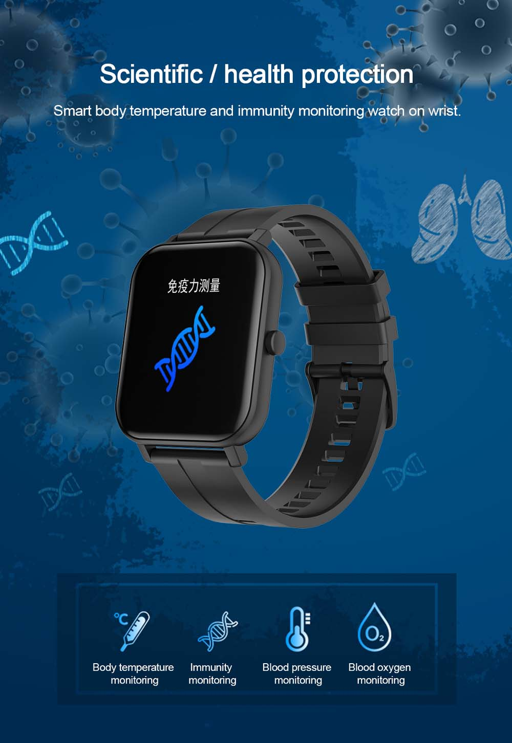 F22 Smart Watch 1.4inch wristband body temperature heart rate (15)