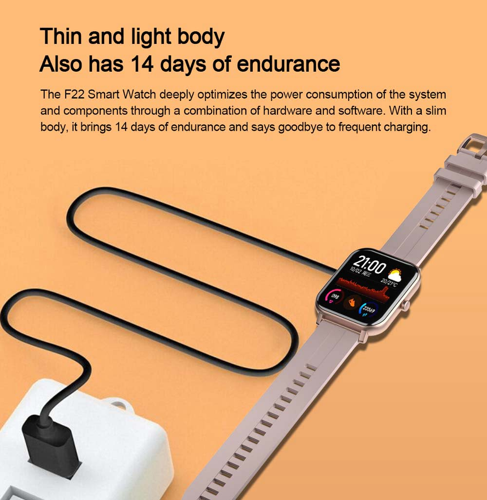 F22 Smart Watch 1.4inch wristband body temperature heart rate (22)