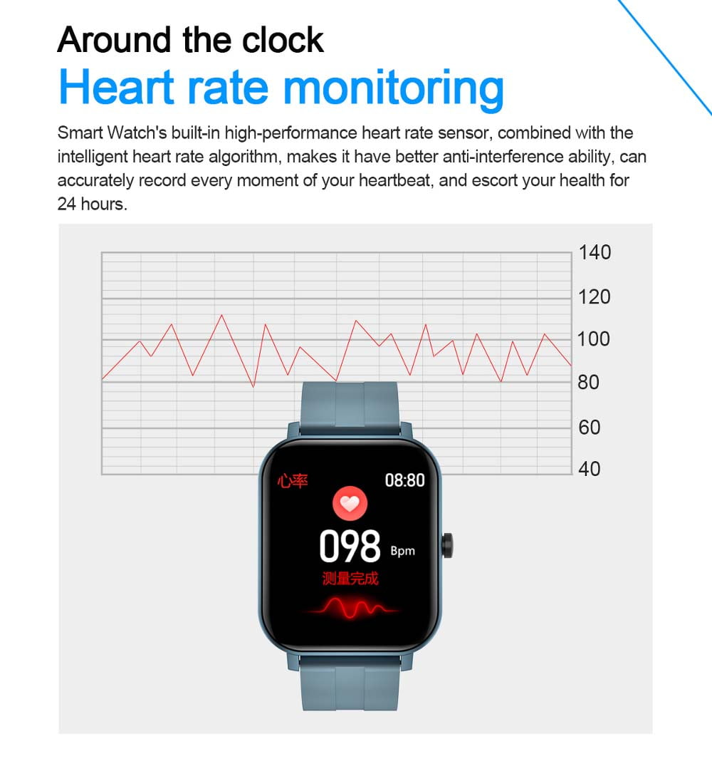 F22 Smart Watch 1.4inch wristband body temperature heart rate (26)