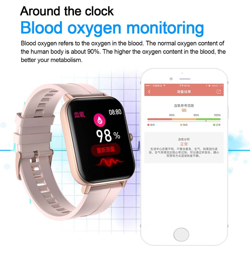 F22 Smart Watch 1.4inch wristband body temperature heart rate (27)