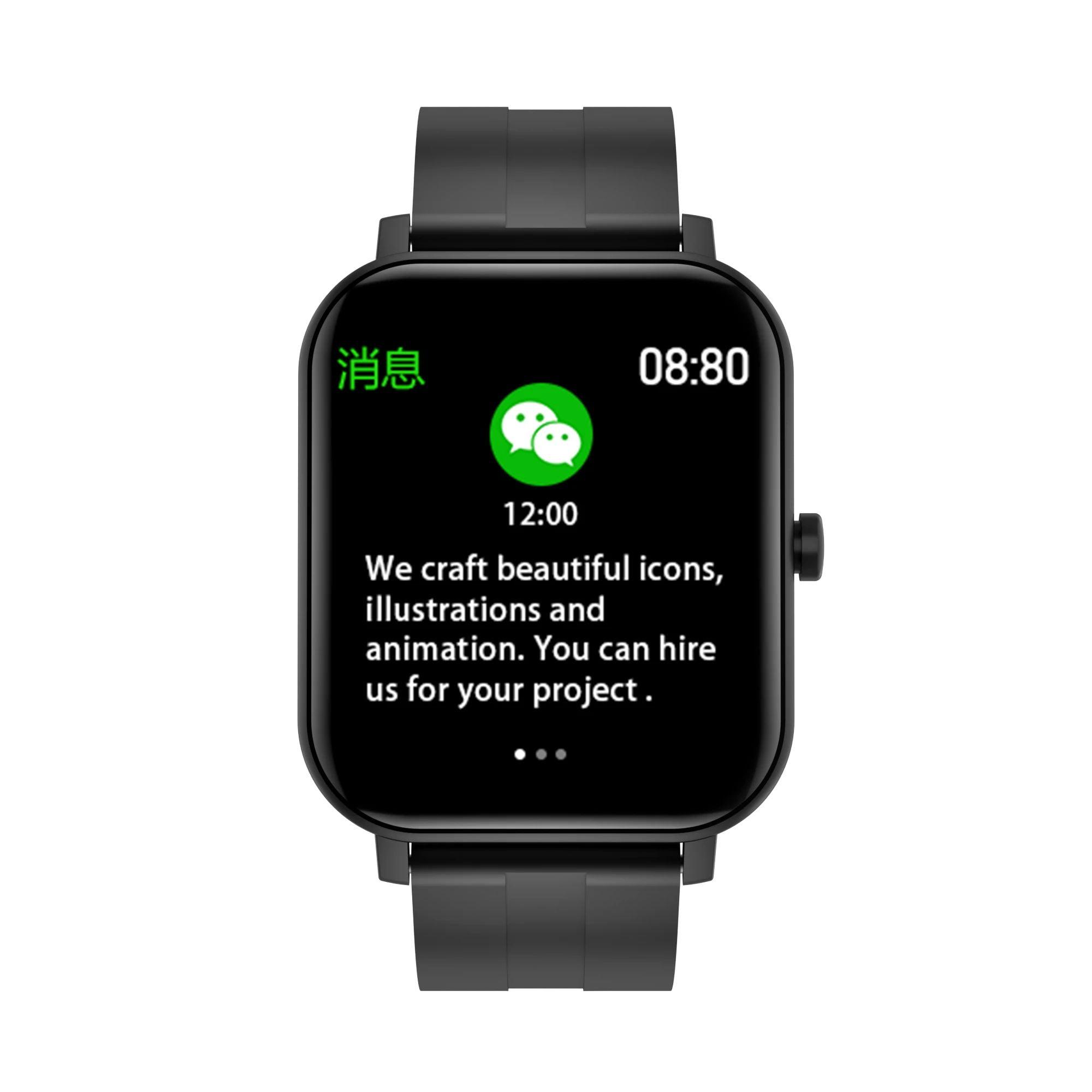 F22 SmartWatch 1.4inch wristband body temperature heart rate (8)