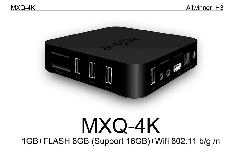 Firefly IV522 MXQ 4K android tv box quad core cortex a53 2 0ghz 1gb 8gb wifi hd 4k player 5