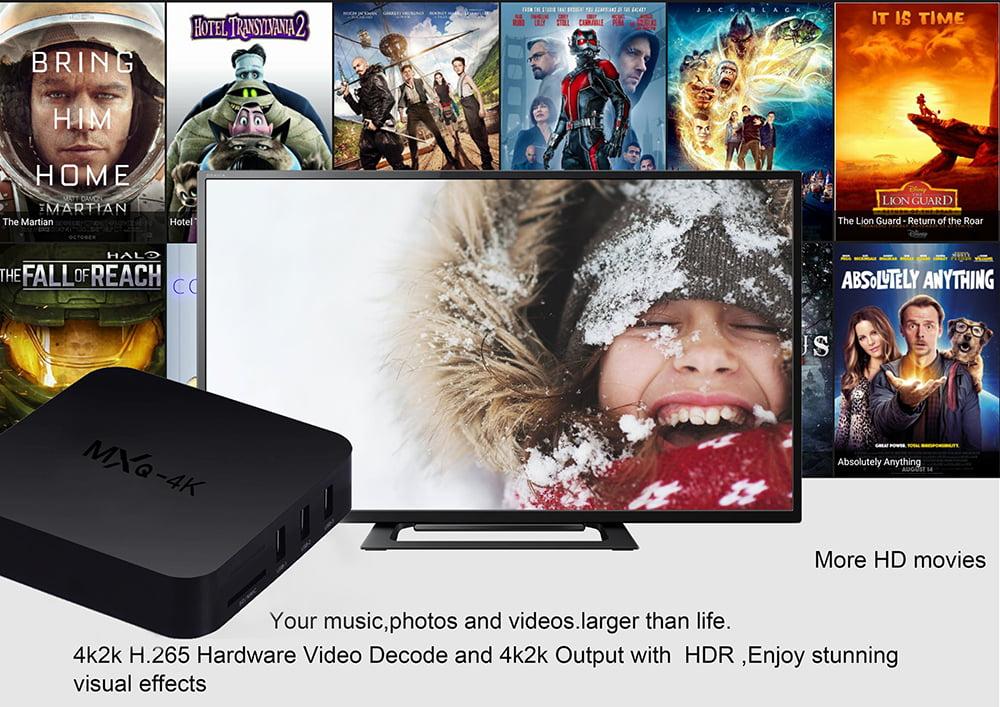 Firefly IV522 MXQ 4K android tv box quad core cortex a53 2 0ghz 1gb 8gb wifi hd 4k player 8
