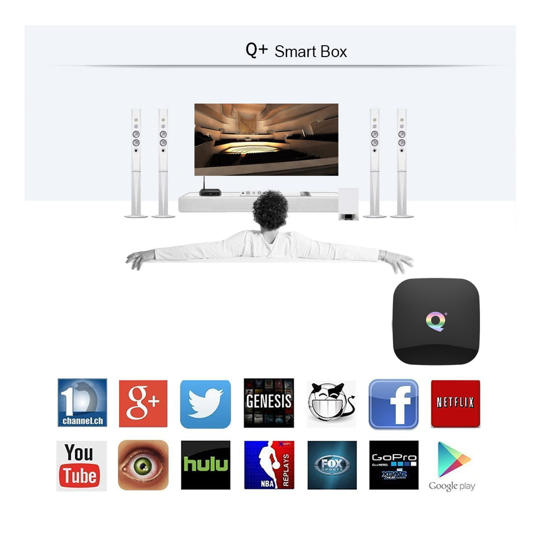Firefly Q Plus Android Smart TV Box Q plus 64bit Quad H6 2Ghz 4G DDR3 32G flash Android 8.1 1