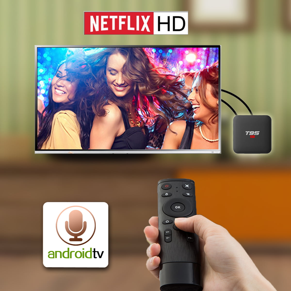 Firefly T95 S1 Android Smart TV Box 64bit Quad H6 2Ghz 2G DDR3 16G flash Android 7.1 10