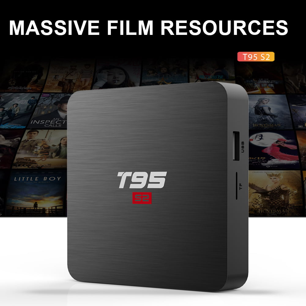 Firefly T95 S2 Android Smart TV Box S905W64bit Quad Core 2Ghz 2G DDR3 16G flash Android 7.1 11
