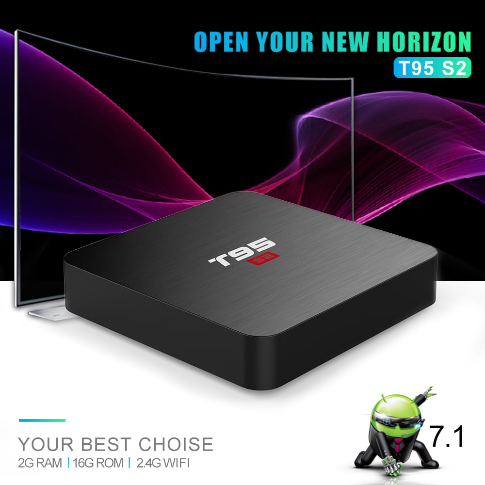 Firefly T95 S2 Android Smart TV Box S905W64bit Quad Core 2Ghz 2G DDR3 16G flash Android 7.1 12