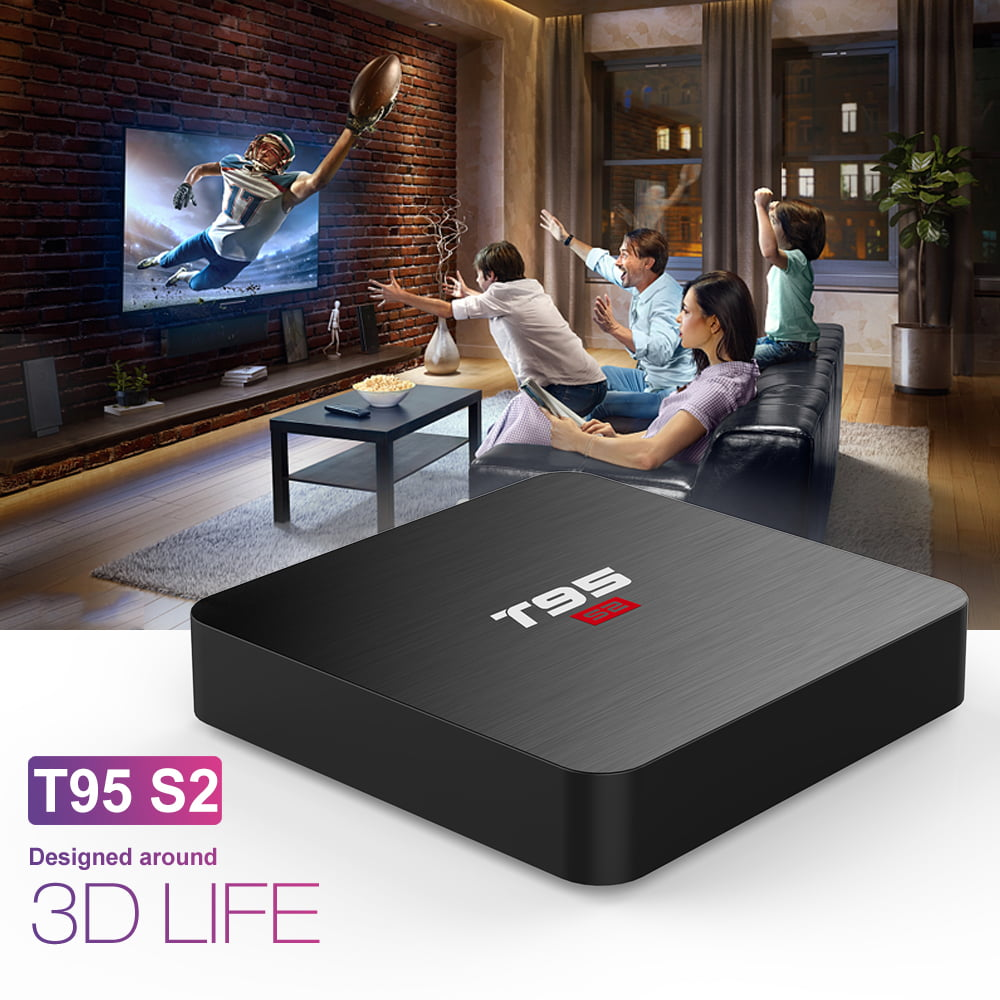 Firefly T95 S2 Android Smart TV Box S905W64bit Quad Core 2Ghz 2G DDR3 16G flash Android 7.1 13