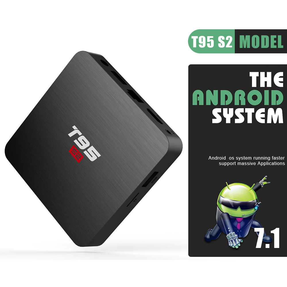 Firefly T95 S2 Android Smart TV Box S905W64bit Quad Core 2Ghz 2G DDR3 16G flash Android 7.1 14