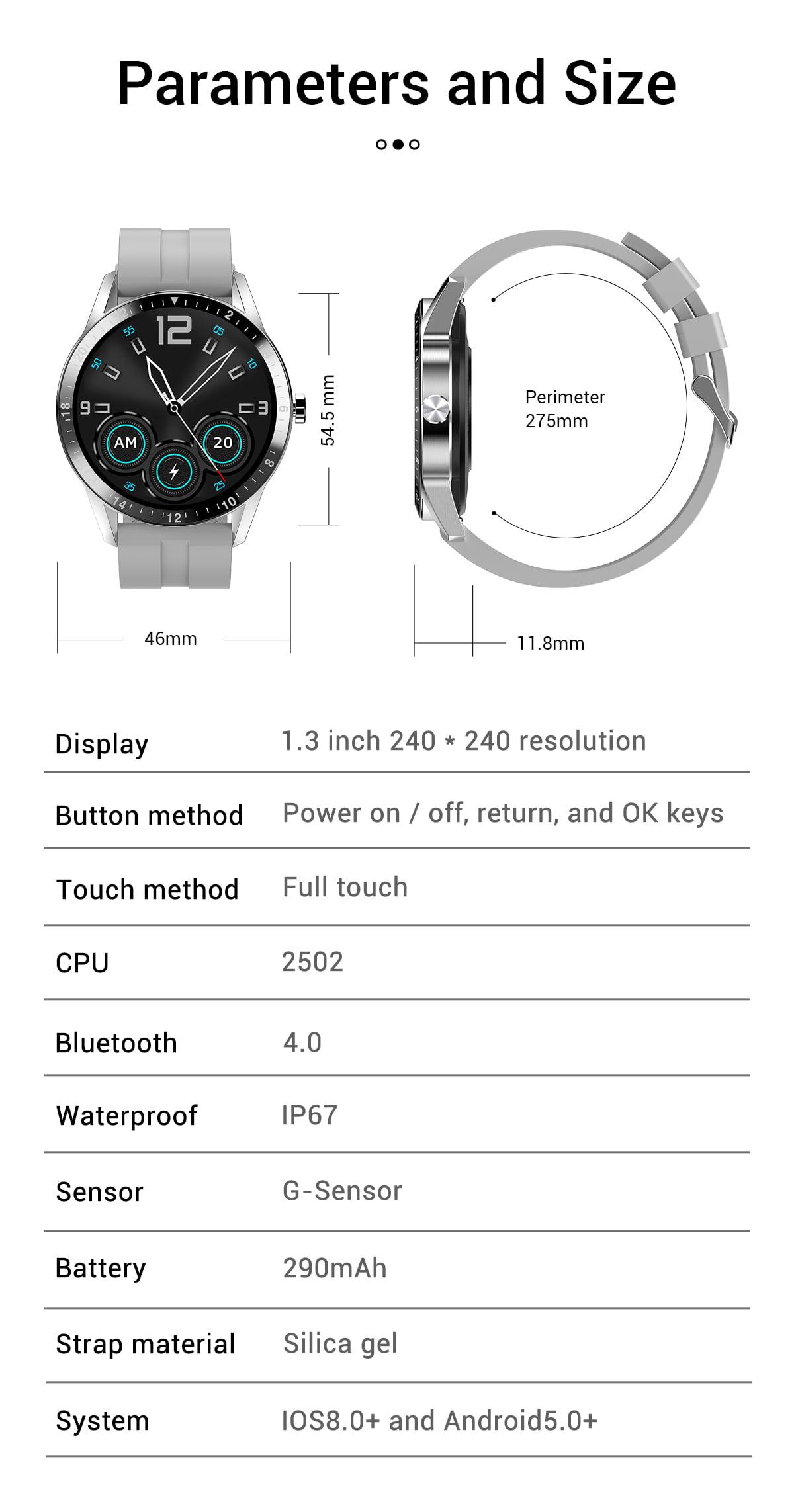 G20 Smart Watch heart rate blood pressure monitor ip67 smart watch wholesale (14)