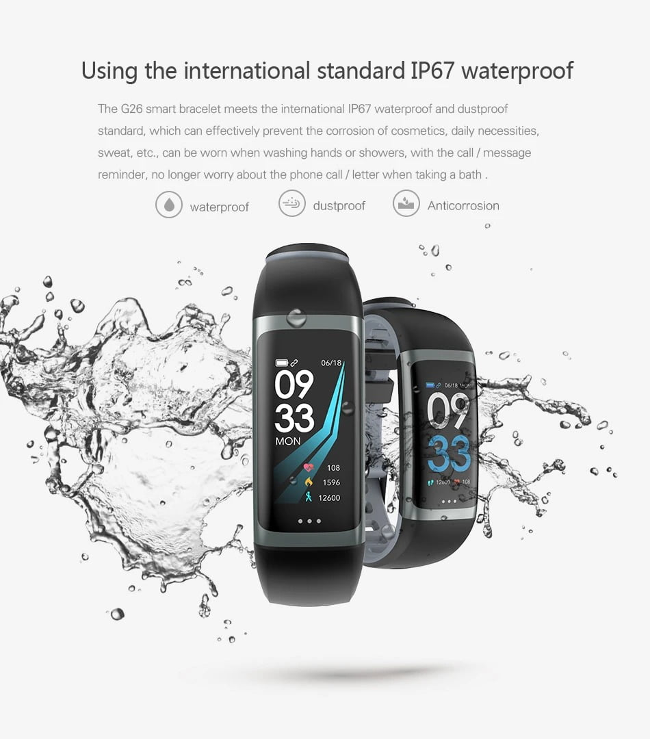 G26 0.96 inch Blood Oxygen Pressure Heart Rate Sleep Reminder Fitness (3)
