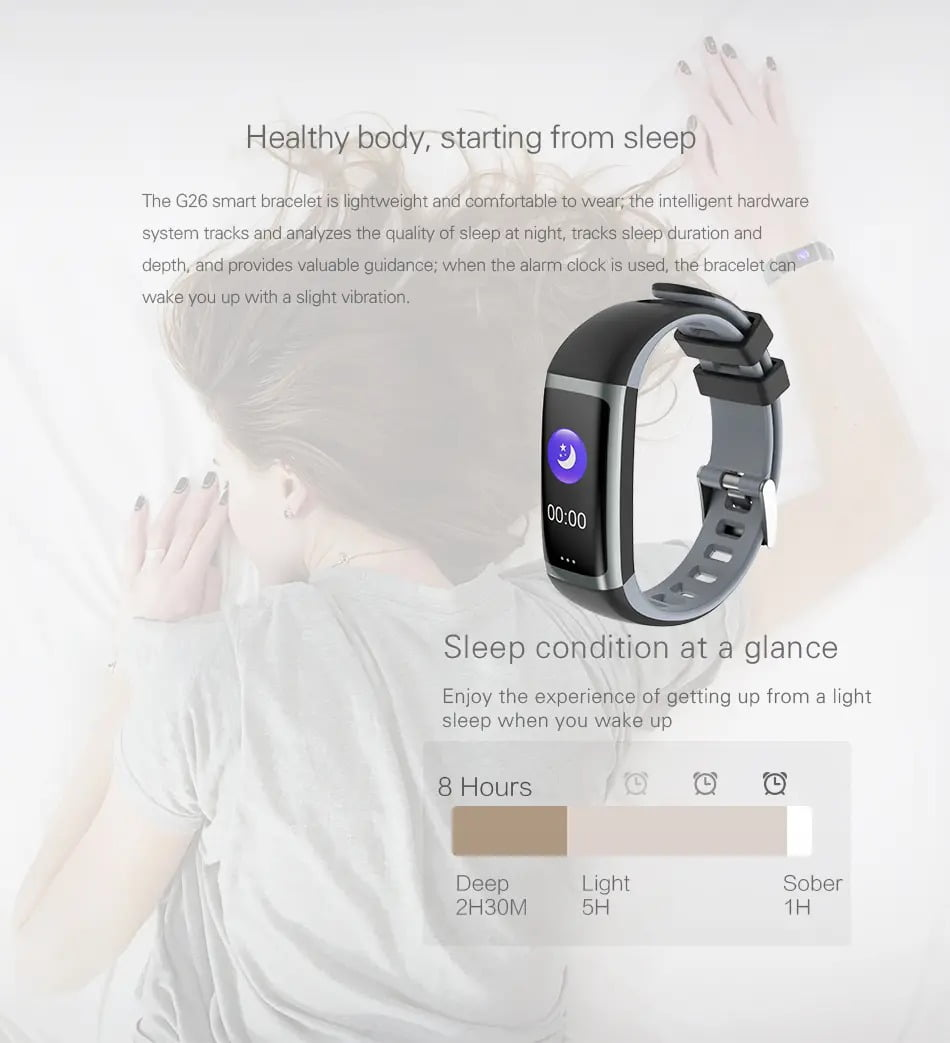 G26 0.96 inch Blood Oxygen Pressure Heart Rate Sleep Reminder Fitness (6)