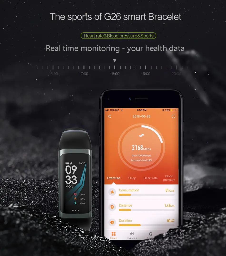 G26 0.96 inch Blood Oxygen Pressure Heart Rate Sleep Reminder Fitness (9)