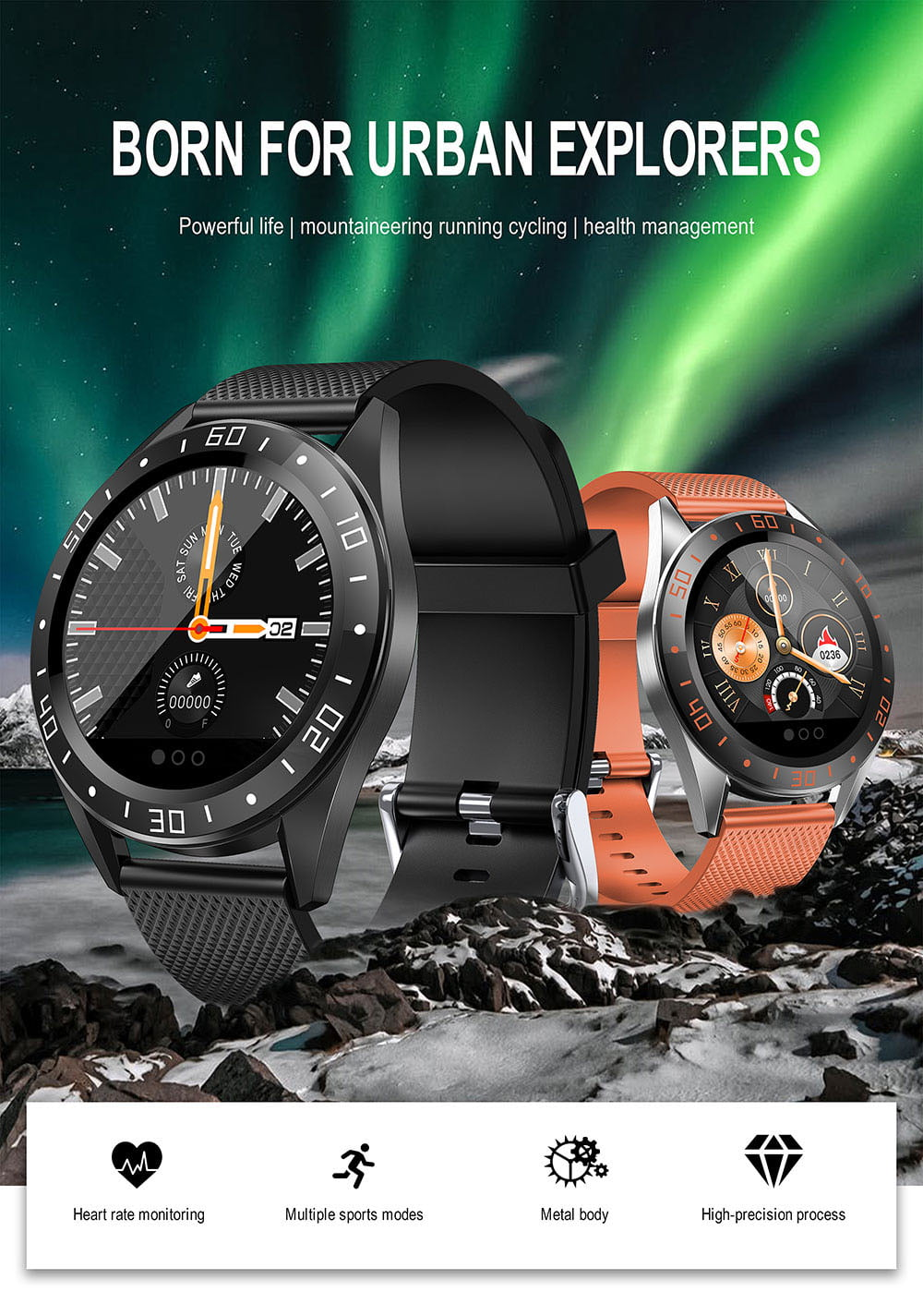 Bakeey smartwatch gt105 ecg health monitor thermometer temperature measurement (1)