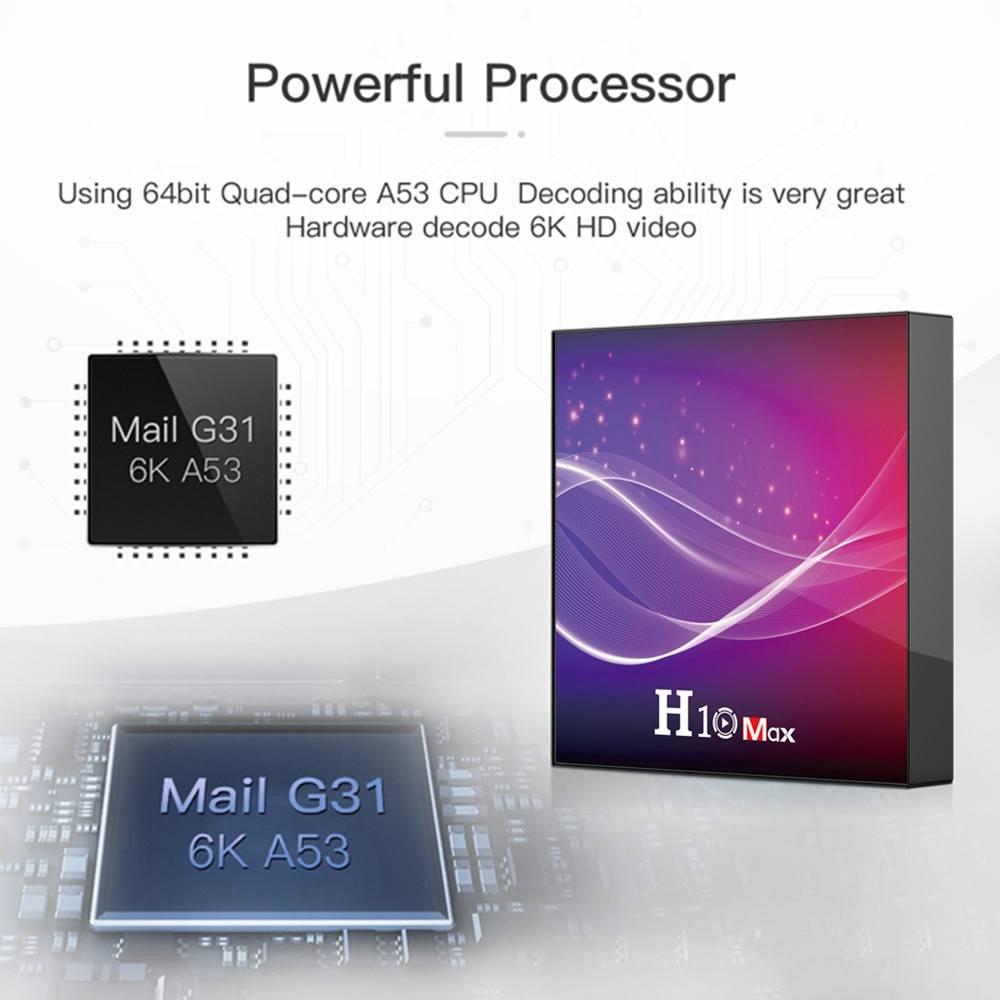 H10 MAX Allwinner H616 4GB RAM 32GB ROM Android 10 Smart TV Box (3)