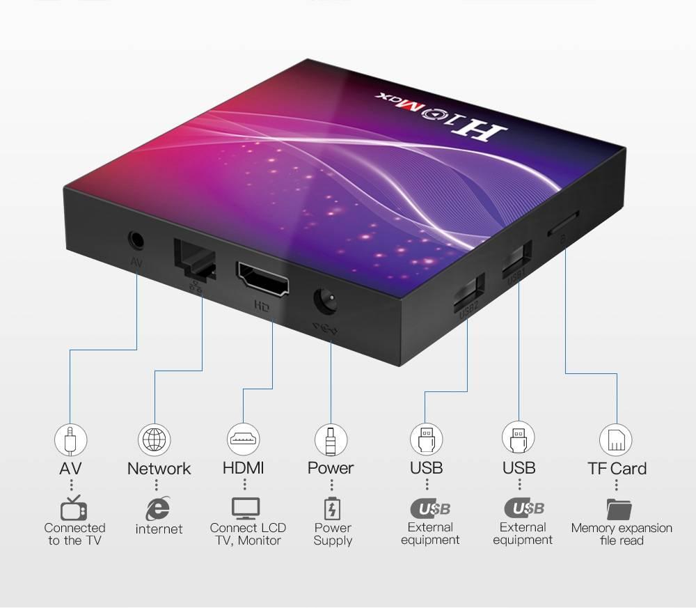 H10 MAX Allwinner H616 4GB RAM 32GB ROM Android 10 Smart TV Box (5)