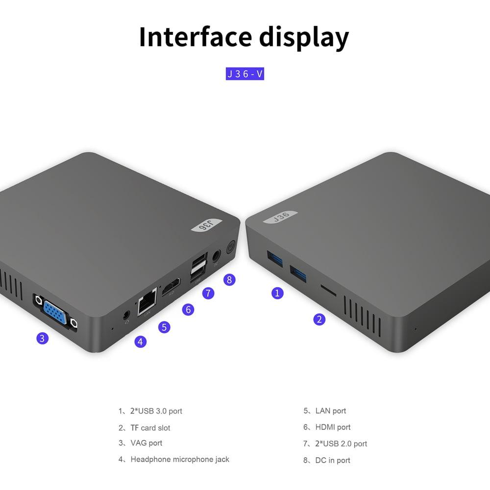 J36V Intel Celeron J3160 Windows10 SSD SATA Mini PC (14)