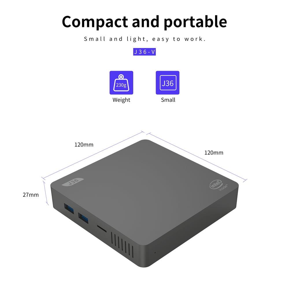 J36V Intel Celeron J3160 Windows10 SSD SATA Mini PC (18)