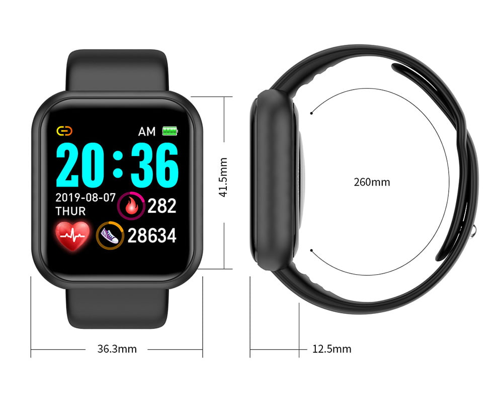 L18 SmartWatch heart rate blood pressure oxygen monitor (13)