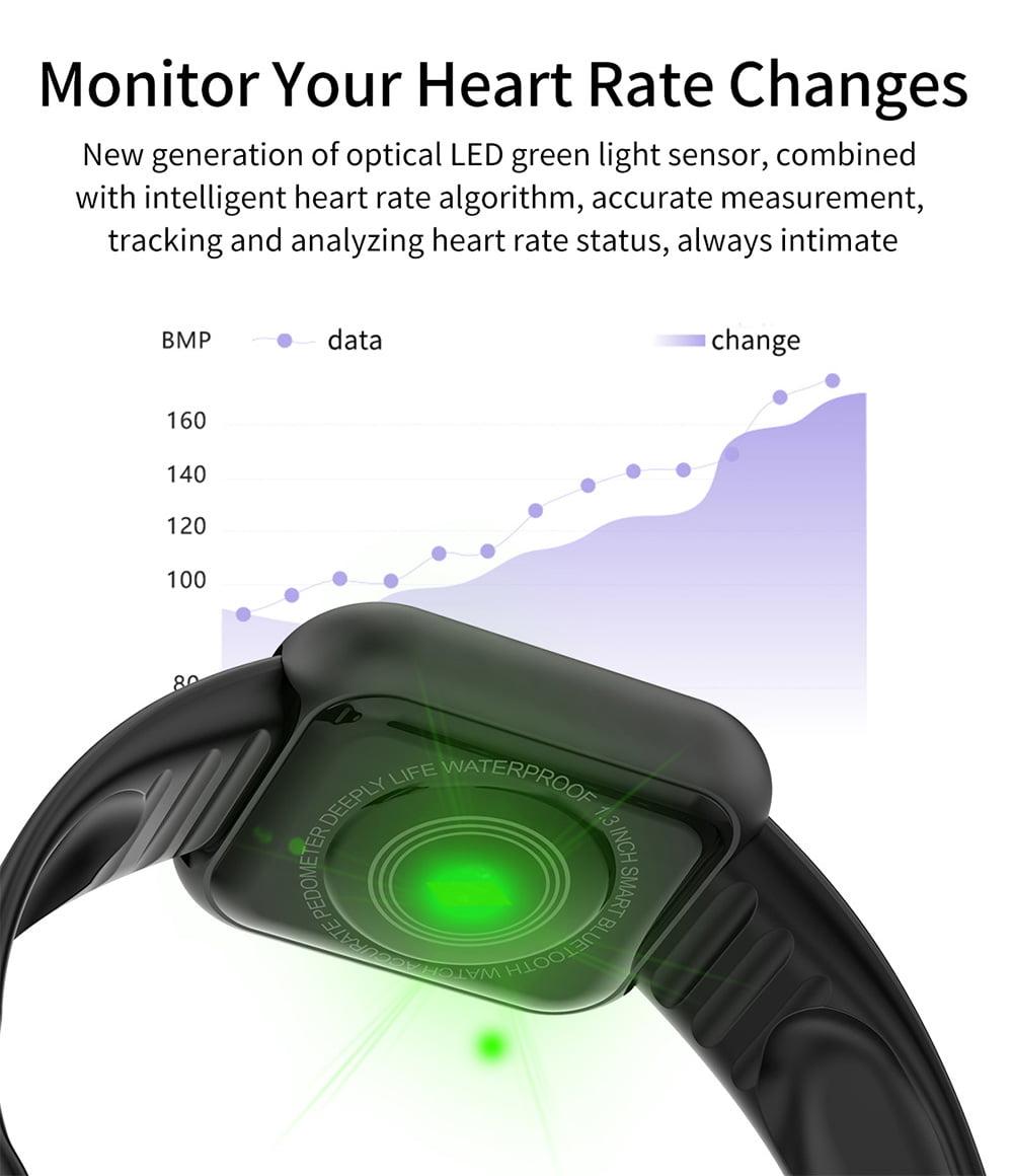 L18 SmartWatch heart rate blood pressure oxygen monitor (6)
