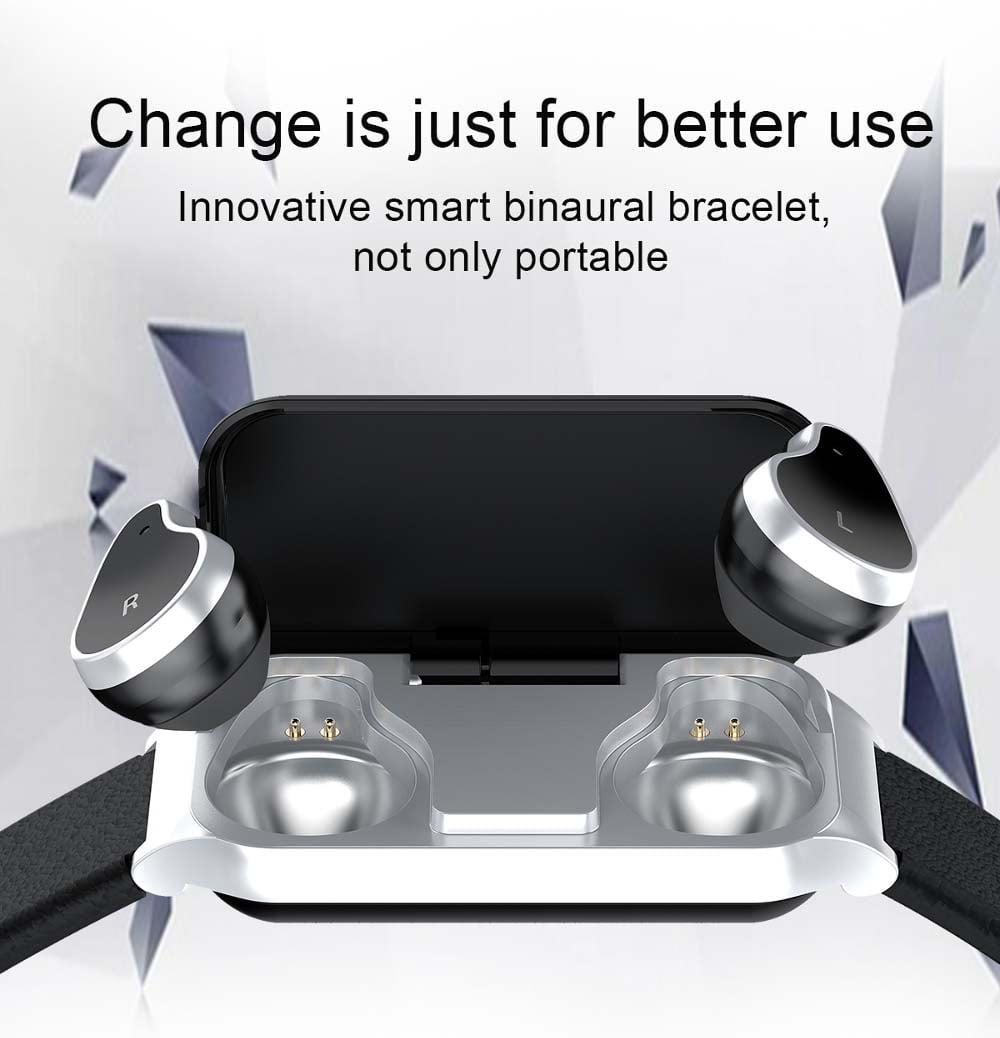 L818 bt5.0 intelligent noise reduction wireless earphone wristband (10)