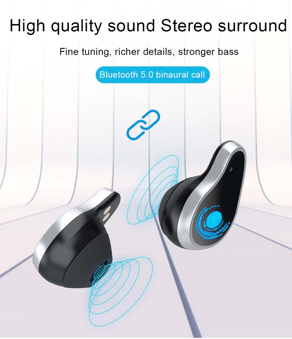 L818 bt5.0 intelligent noise reduction wireless earphone wristband (12)