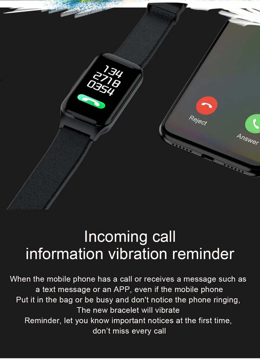 L818 bt5.0 intelligent noise reduction wireless earphone wristband (17)
