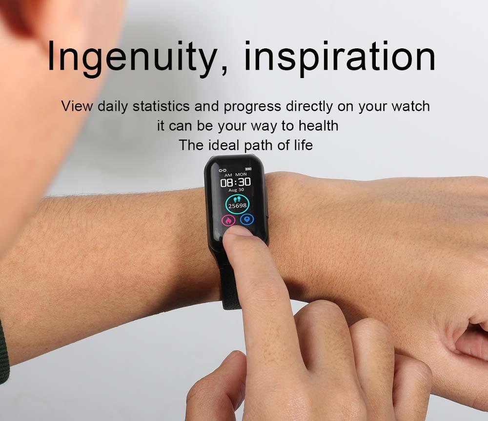 L818 bt5.0 intelligent noise reduction wireless earphone wristband (2)