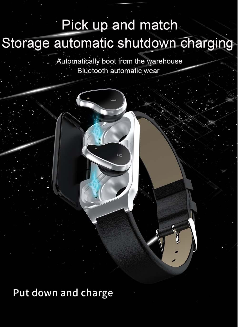 Bakeey smartwatch L818 bt5.0 intelligent noise reduction wireless earphone wristband (4)