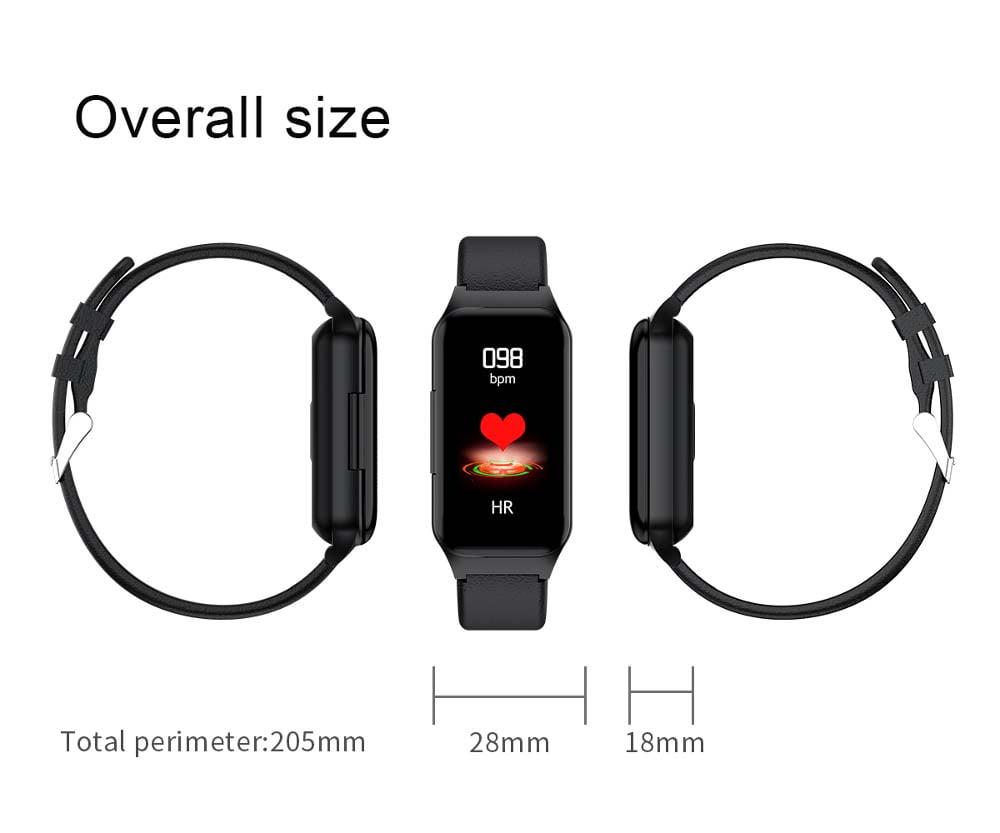 L818 bt5.0 intelligent noise reduction wireless earphone wristband (6)