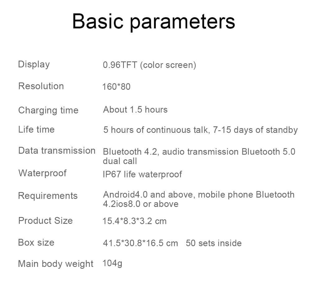 L818 bt5.0 intelligent noise reduction wireless earphone wristband (8)