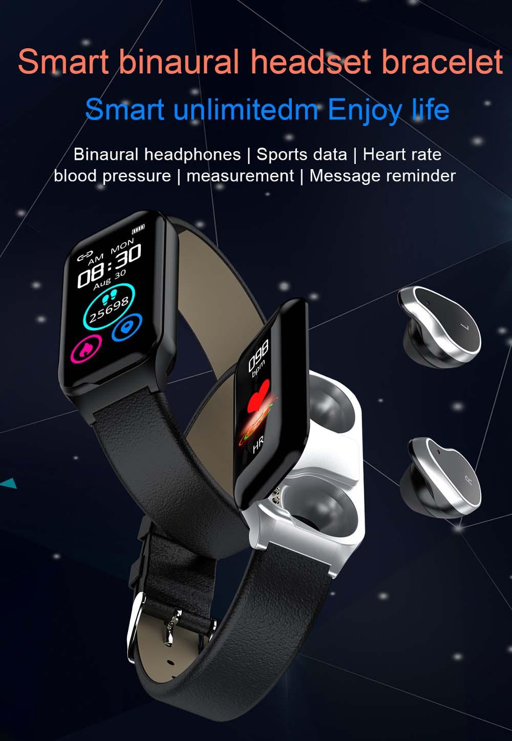 L818 bt5.0 intelligent noise reduction wireless earphone wristband (9)