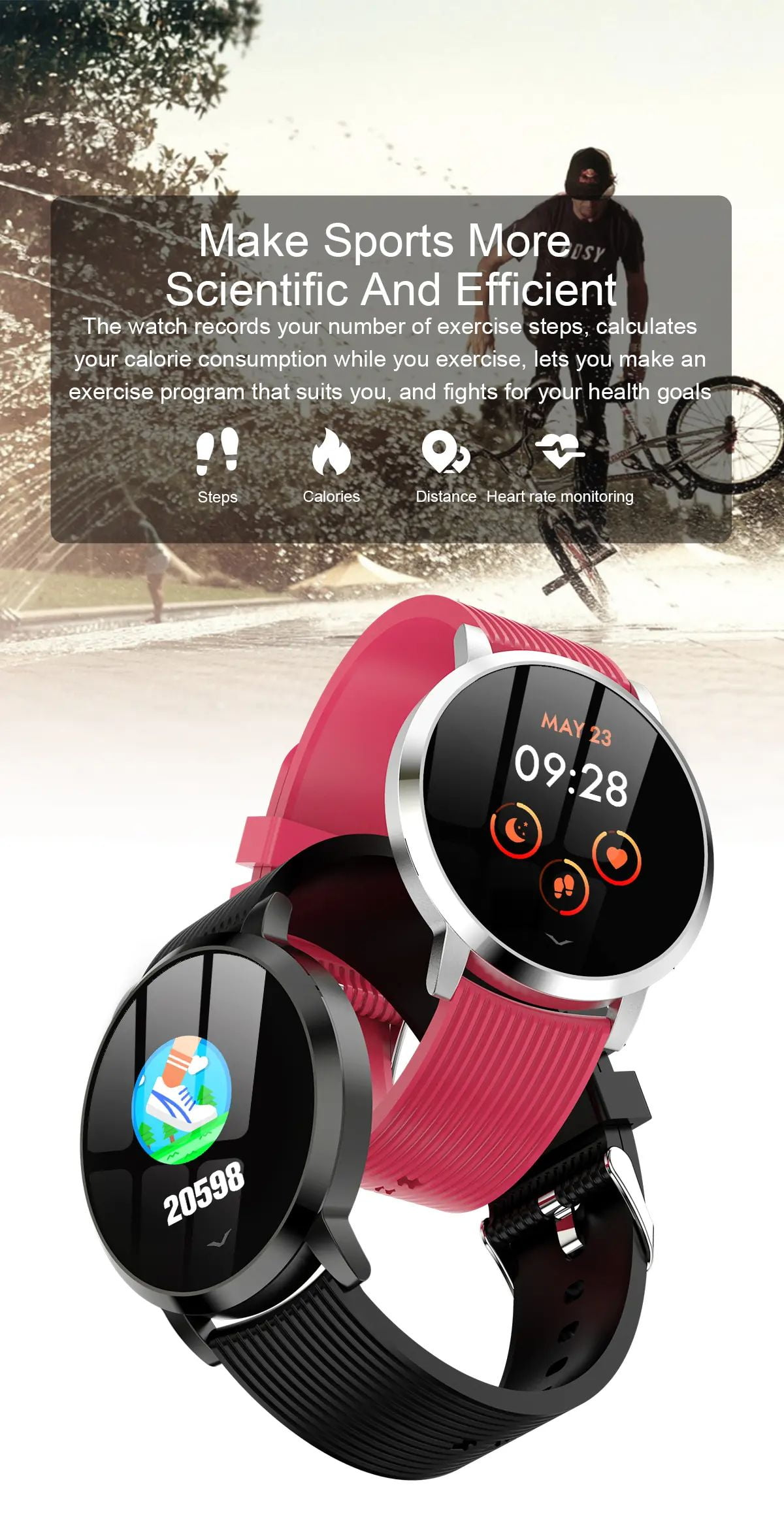 LV09 Smart Watch 1.3 inch custom dial real-time heart rate monitor (14)