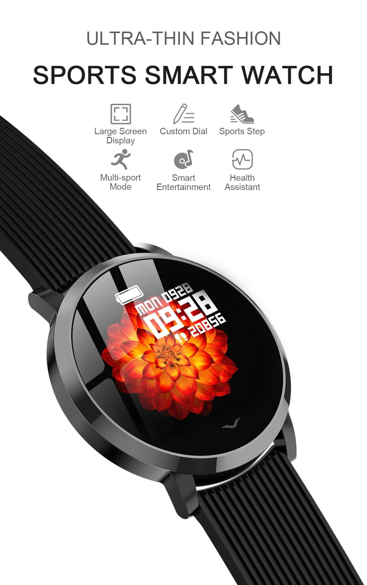 LV09 Smart Watch 1.3 inch custom dial real-time heart rate monitor (15)