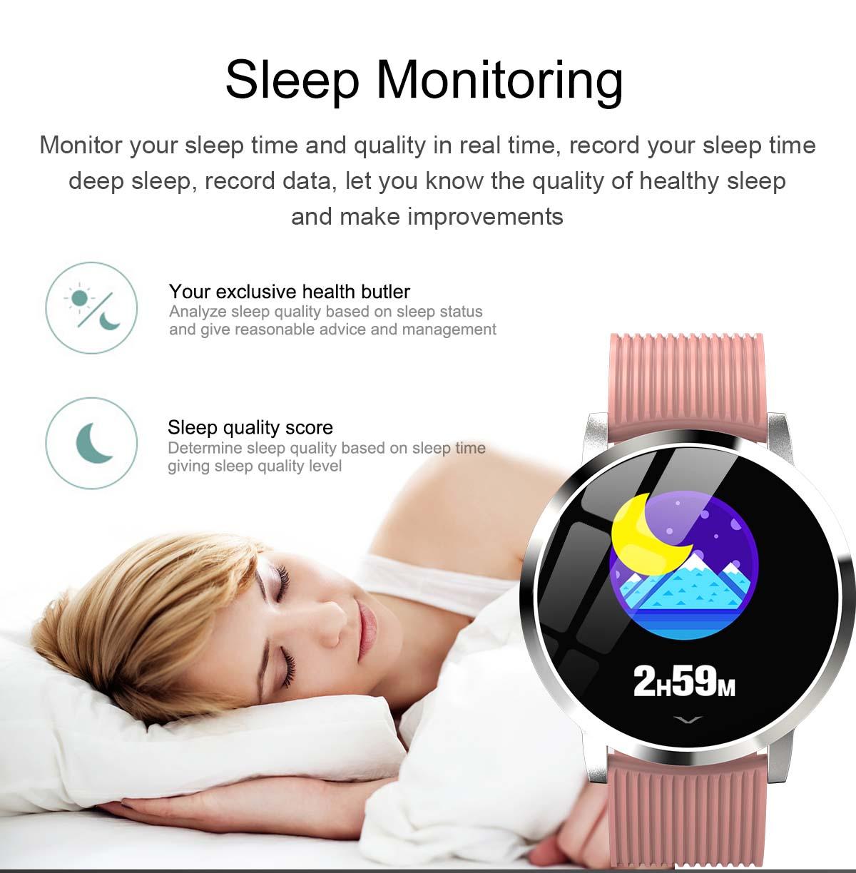 Bakeey smartwatch LV09 1.3 inch custom dial real-time heart rate monitor (21)