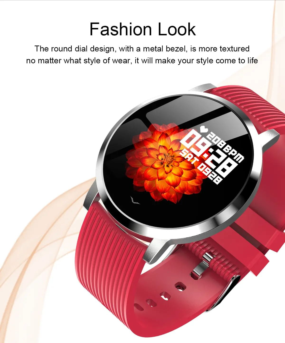 LV09 Smart Watch 1.3 inch custom dial real-time heart rate monitor (6)