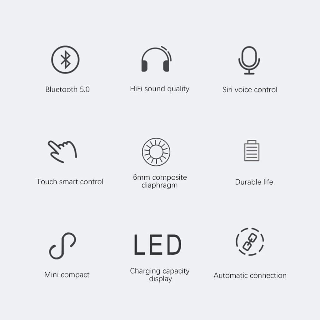 M13b tws bluetooth 5-0 earphone led display wireless earbud (1)