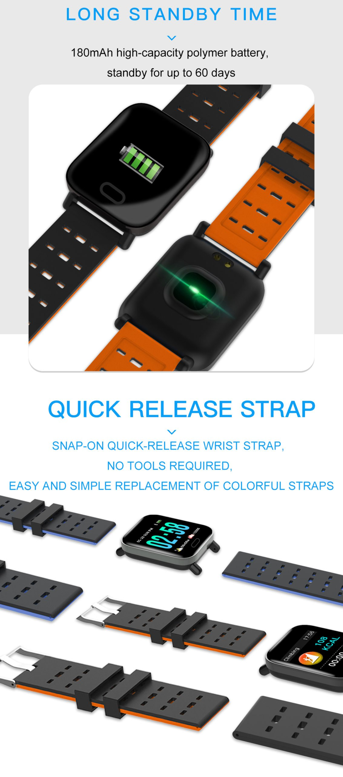 M20 smart watch 1.3 inch screen real time hr blood oxygen pressure (2)