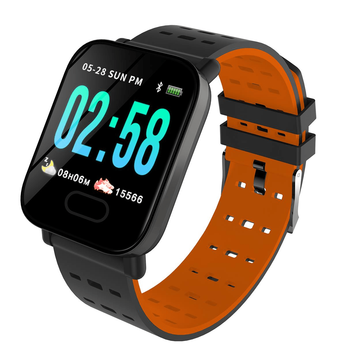 M20 smartwatch 1.3 inch screen real time hr blood oxygen pressure (3)