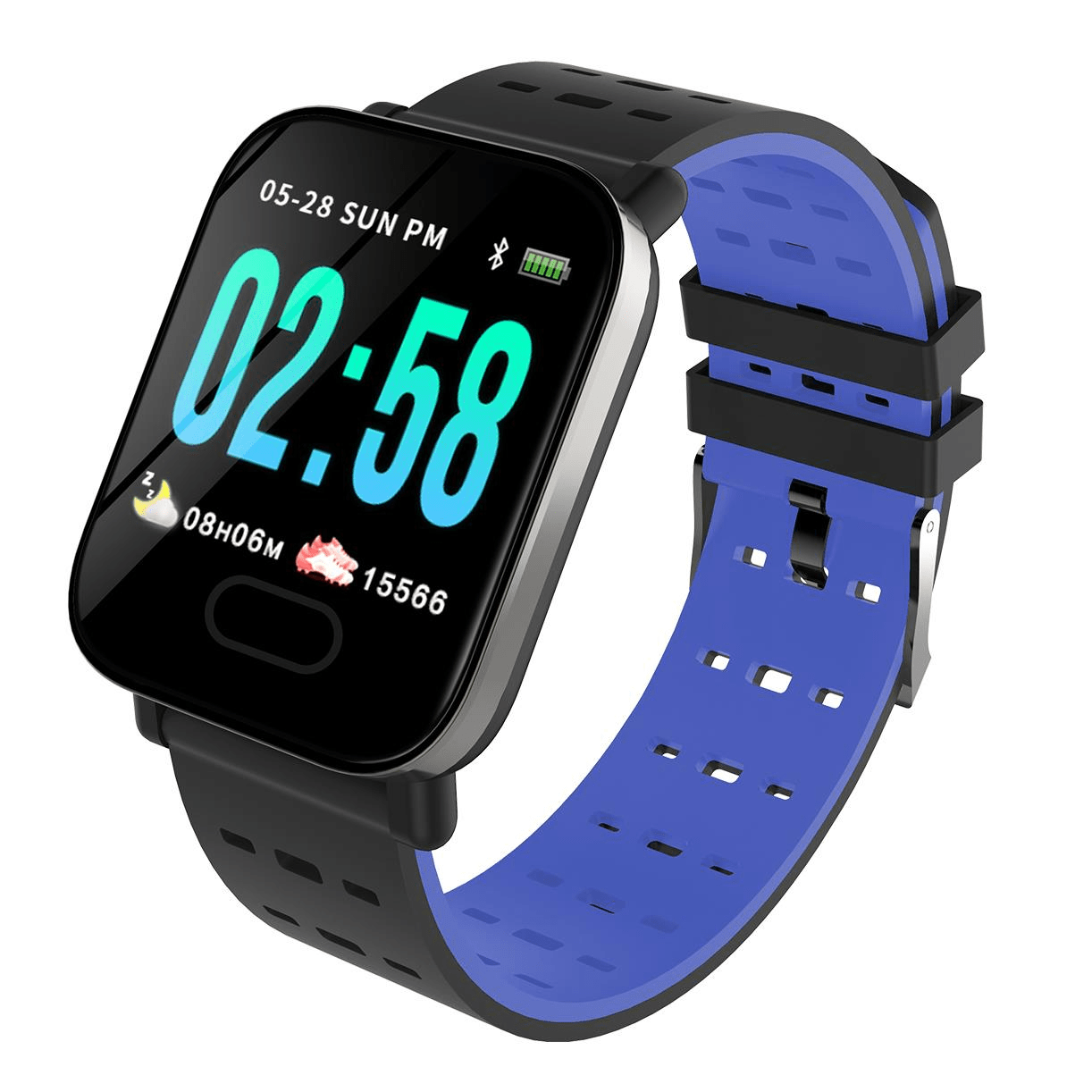 M20 smartwatch 1.3 inch screen real time hr blood oxygen pressure (4)