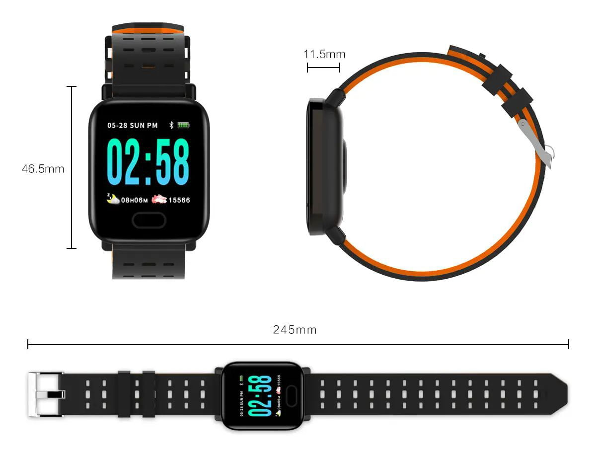 M20 smart watch 1.3 inch screen real time hr blood oxygen pressure (51)