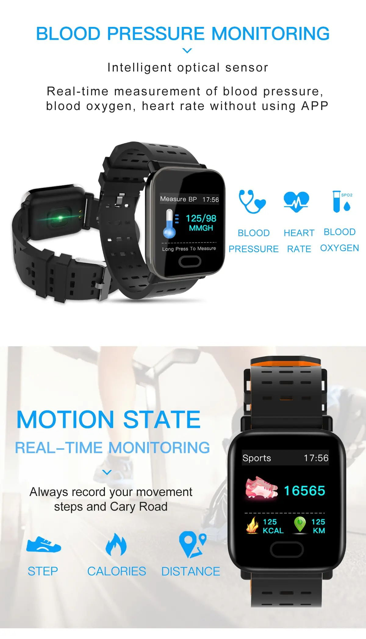 M20 smart watch 1.3 inch screen real time hr blood oxygen pressure (6)